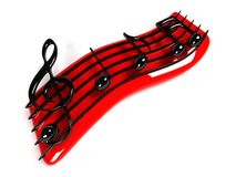 símbolo de música 3D Fotos de archivo