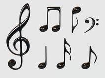 Símbolo de música Imágenes de archivo libres de regalías