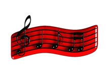 Símbolo de música Fotografia de Stock Royalty Free
