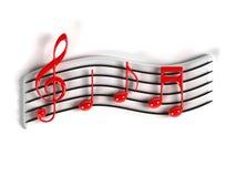 Símbolo de música Imagens de Stock