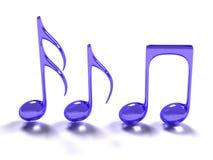 Símbolo de música azul Fotografía de archivo libre de regalías