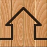 Símbolo de madera de la casa Fotografía de archivo