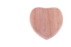 Símbolo de madera del corazón Fotos de archivo