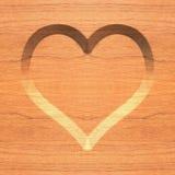 Símbolo de madera del corazón Fotos de archivo libres de regalías