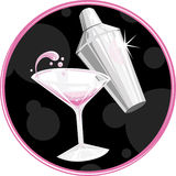 Símbolo de Martini imagem de stock