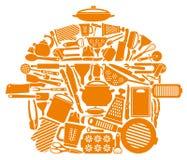 Símbolo de mercadorias da cozinha ilustração stock