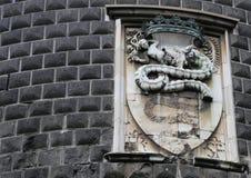 Símbolo de Milán, emblema de la familia de Sforza Imagen de archivo libre de regalías