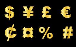 Símbolo de moeda Imagens de Stock Royalty Free