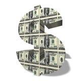 símbolo de moeda 3D imagens de stock