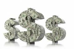 símbolo de moeda de 3D USD Imagens de Stock Royalty Free