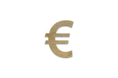 Símbolo de moeda do Euro isolado no fundo branco Fotografia de Stock Royalty Free