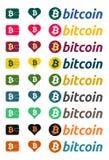Símbolo de moneda de Bitcoin en colores Imagen de archivo libre de regalías