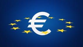Símbolo de moneda euro con las estrellas