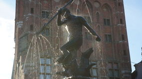 Símbolo de Neptuno de Gdansk Imágenes de archivo libres de regalías