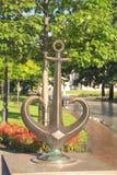 Símbolo de Odessa - estatua de un ancla de bronce en Odessa, Ucrania imagen de archivo libre de regalías