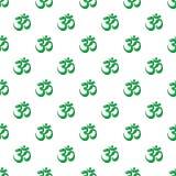 Símbolo de OM del modelo del hinduism inconsútil stock de ilustración