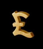 Símbolo de oro de la libra esterlina Fotos de archivo