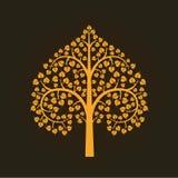 Símbolo de oro del árbol de Bodhi, ejemplo Fotografía de archivo libre de regalías