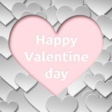 Símbolo de papel abstracto del corazón del amor de la tarjeta del día de San Valentín Foto de archivo
