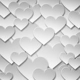 Símbolo de papel inconsútil abstracto del corazón del amor de la tarjeta del día de San Valentín Imagen de archivo