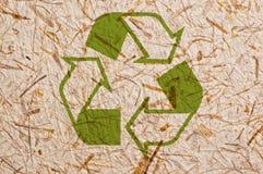 Símbolo de papel recicl. Imagens de Stock Royalty Free