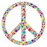 Símbolo de paz con la polca Dots Illustration Imagen de archivo