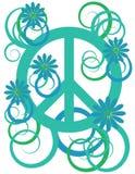 Símbolo de paz da potência de flor Imagens de Stock