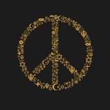 Símbolo de paz das religiões Foto de Stock Royalty Free