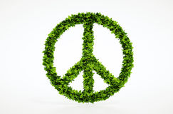 Símbolo de paz de la ecología con el fondo blanco Fotografía de archivo libre de regalías