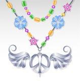 Símbolo de paz de prata Imagens de Stock Royalty Free