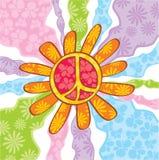 Símbolo de paz del Hippie Foto de archivo libre de regalías