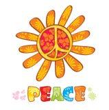Símbolo de paz do Hippie Foto de Stock Royalty Free