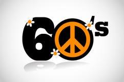 Símbolo de paz dos anos sessenta Fotos de Stock Royalty Free