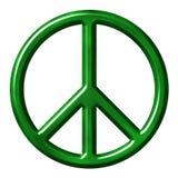 Símbolo de paz ecológico Imágenes de archivo libres de regalías