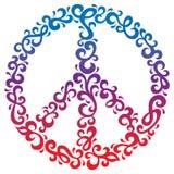 Símbolo de paz floral Fotografía de archivo