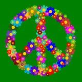 Símbolo de paz floral Imagen de archivo libre de regalías