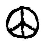 Símbolo de paz Muestra dibujada mano del hippie libre illustration