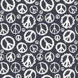 Símbolo de paz retro sem emenda Imagem de Stock Royalty Free