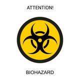 Símbolo de perigoso biológico fotografia de stock