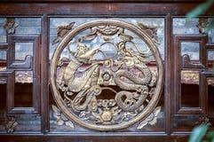 Símbolo de Phoenix e de dragão em Fenghuang, China Fotos de Stock