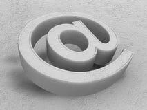 Símbolo de piedra del email alias Foto de archivo libre de regalías