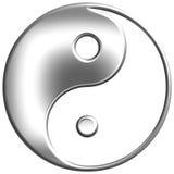 símbolo de plata de 3D Tao Foto de archivo libre de regalías