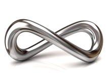 Símbolo de plata del infinito Imagen de archivo libre de regalías