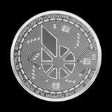 Símbolo de plata de los bitshares Crypto de la moneda Fotografía de archivo
