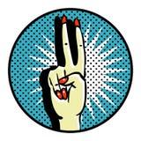 Símbolo de Popart da vitória Fotografia de Stock Royalty Free