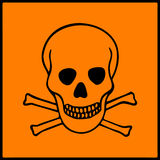 Símbolo de presentes do perigo em produtos perigosos ilustração royalty free