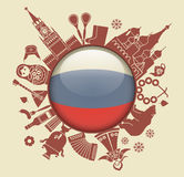 Símbolo de Rússia Imagens de Stock