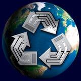 Símbolo de reciclaje conceptual Fotos de archivo