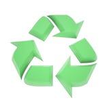 Símbolo de reciclaje verde ilustración del vector
