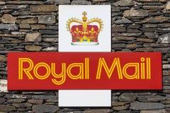 Símbolo de Royal Mail Imágenes de archivo libres de regalías